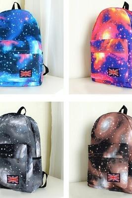 Galaxy Pattern Vintage Style Backpack Padded Big Pocket Back Pack Tablet Bags(Black is out of stock now)