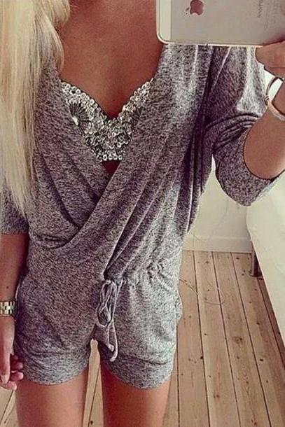 Sexy hot grey jumpsuit
