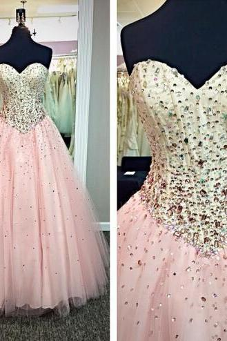 pink prom dress, 2015 prom dress, beautiful prom dress, gorgeous prom dress, handmade prom dress, evening dress, BD270