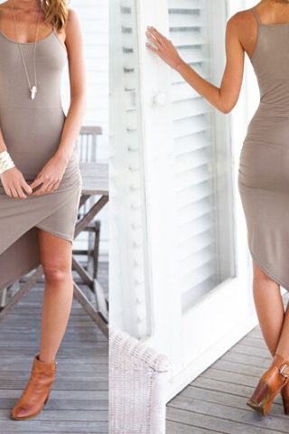 Slim sleeveless vest package hip dress SF51107JL