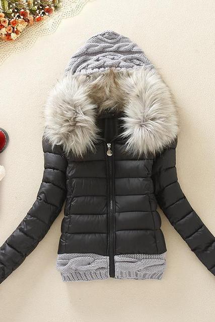 Fashion Hooded Down Padded Coat