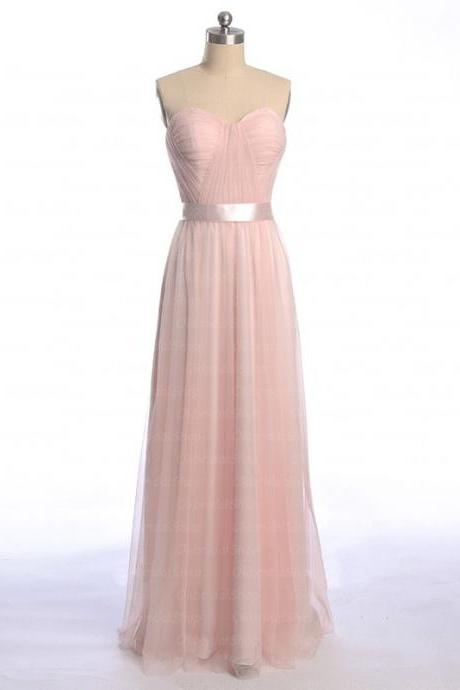Pink Bridesmaid Dresses, custom bridesmaid dresses, tulle bridesmaid dresses, affordable Bridesmaid Dresses, long Bridesmaid Dresses, cheap Bridesmaid Dresses, CM513