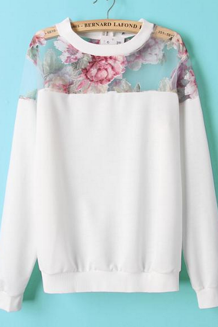 FASHION FLOWER SWEATER