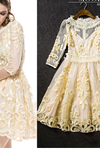 Spring, Summer, The New Dress High-End Women's Heavy Lace Cultivate One's Morality Dress PS