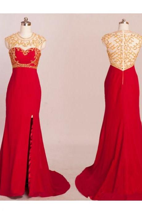 red prom dresses, tulle evening dress, mermaid evening dress, unique prom dresses, sexy prom dresses, 2015 prom dresses, popular prom dresses, dresses for prom, CM538