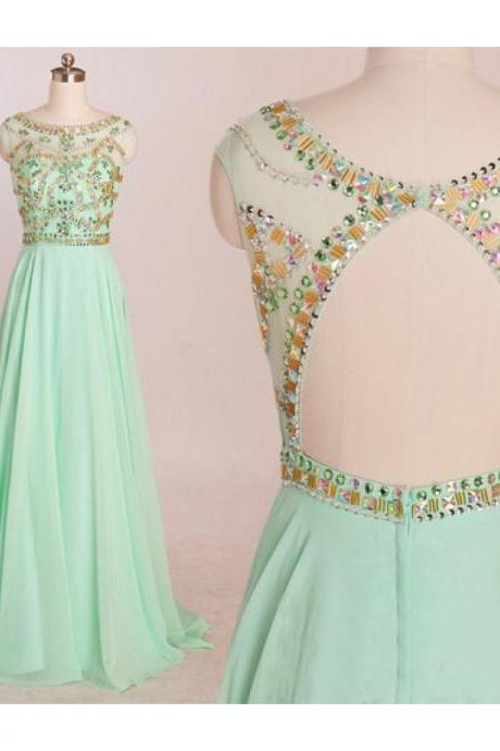 Mint prom dresses, backless evening dress, mermaid evening dress, unique prom dresses, sexy prom dresses, 2015 prom dresses, popular prom dresses, dresses for prom, CM545