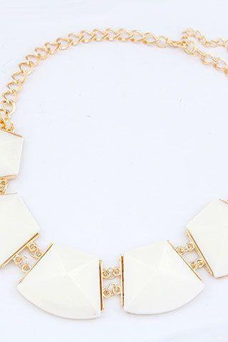 Statement jewelry luxury gift white woman necklace
