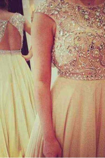 cap sleeve prom dress, backless prom dress, champagne prom dress, party dress, affordable prom dress, fantastic prom dress, formal prom dress, BD313