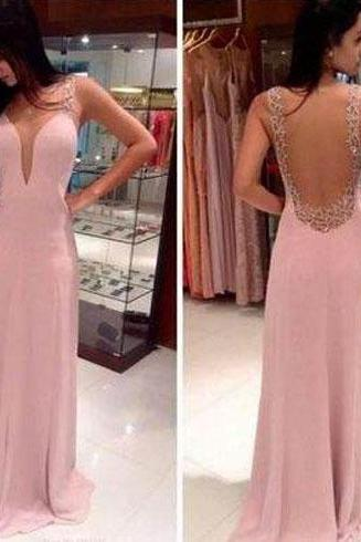 pink prom dress, backless prom dress, inexpensive prom dress, party dress, charming prom dress, junior prom dress, formal prom dress, BD315