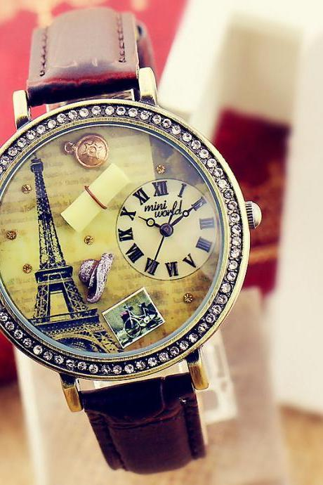 Fimo fashion brand watches ladies watches Eiffel Tower watch