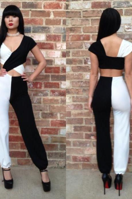 New fashion sexy bandage Siamese trousers jumpsuit