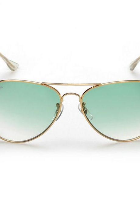 Pilot green lenses unisex beach party sunglasses