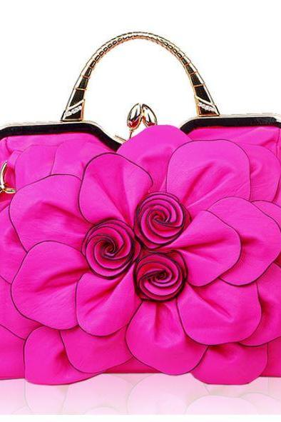 Hot Pink Purse for a Luxurious Woman Luxury Purses Luxury Shoulder Pink Bags