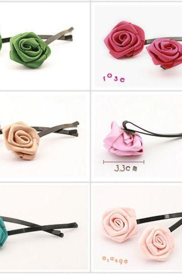 10 Green Hair Accessories Green Hair Pin Rose Hair Accessories Green Headpiece