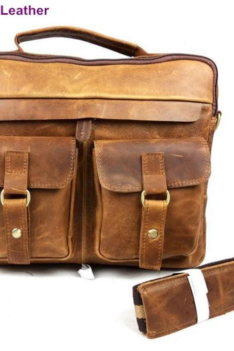 Leather Bags for Men Horse Leather Bags Men's Messenger Bag Male School Shoulder Cross Body Handbags