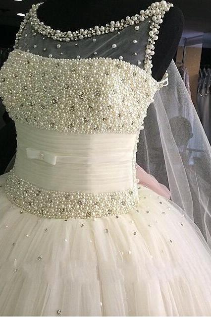 Custom made Gorgeous Sexy Ball gown Princess Style Wedding Dresses 2015 Vintage Dress,Bridal Gowns for Wedding