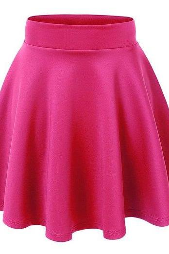 High Rise Ruffled Mini Skater Skirt