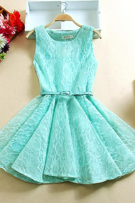 Sweet embroidered lace princess dress FG51603JH