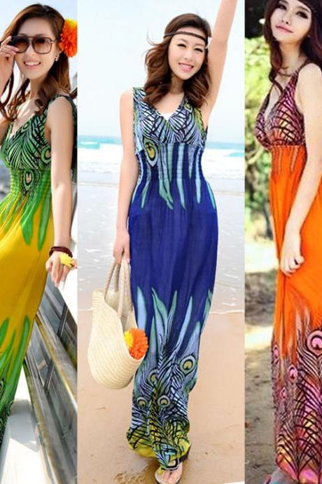 Bohemian Plus Size Maxi Beach Dress