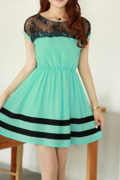 Slim Chiffon lace Dress