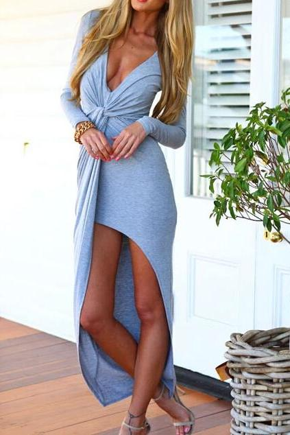 Sexy Slim V-Neck Dress