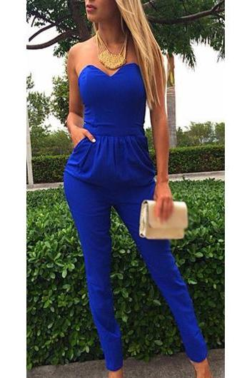 Classic Open Back off the Shoulder Woman Jumpsuit