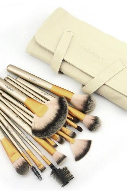 High Quality 18 Pcs Professional Beauty Makeup Brush Set With Bag