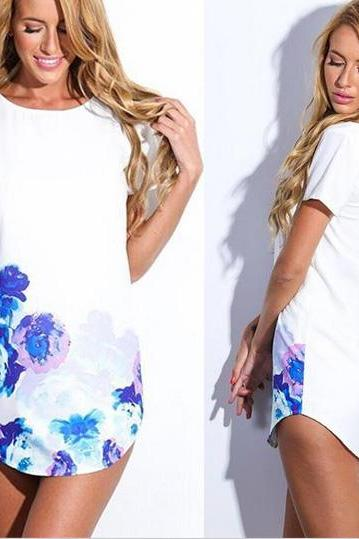 Sexy Sumer Floral Print Casual Dress