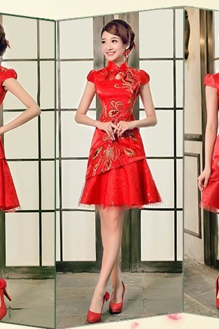 Wedding Cheongsam A Toast To The Bride Clothing The Wedding Dress YFTK