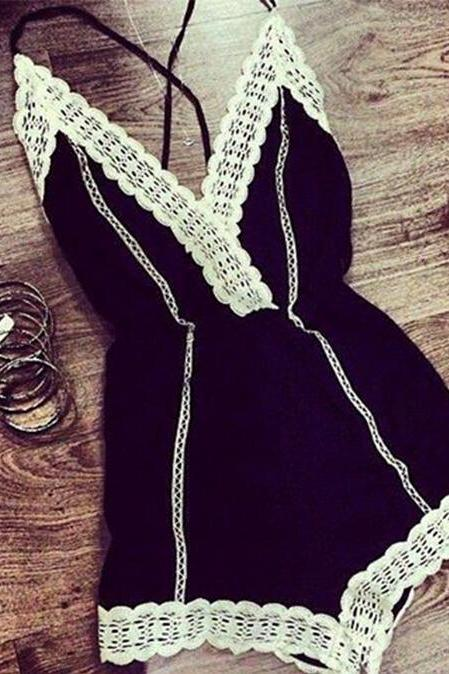Fashion Lace Strapless Jumpsuit DFS52111WN