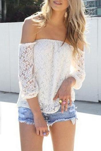 Cute Off Shoulder LaceTop