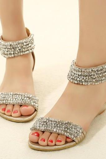 Diamond Design Boho Flat Fashion Sandals
