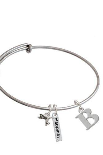 Large Greek Letter - Expandable Bangle Bracelet| Letter| Beta