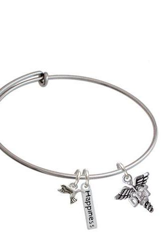 Physical Therapy Caduceus Expandable Bangle Bracelet| Caduceus| DPT