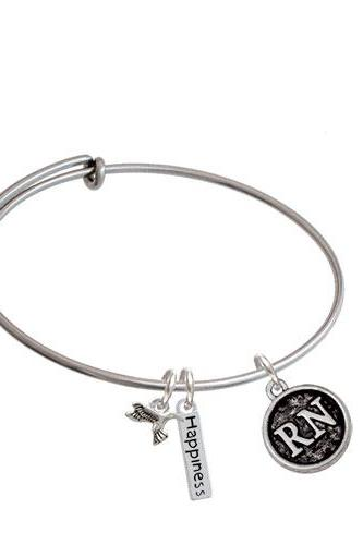 Nurse Caduceus Seal - Expandable Bangle Bracelet| Caduceus| RN
