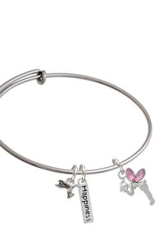Small Fairy Expandable Bangle Bracelet| Color| Pink