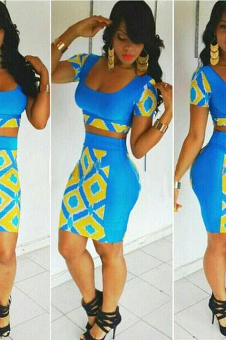 2 Piece Bandage Dress Suits