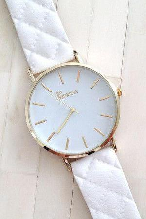 Exclusive design strap fashion white woman watch