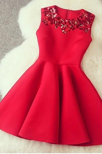 Gorgeous A Line Red Short Dress With Sequins Red Dresses Gorgeous Dresses In Stock CFMB4AGKV682AKGCXOI6C
