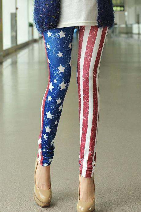 American Flag Fashion Leggings