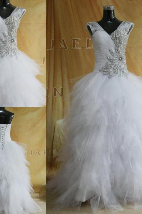 2016 elegant fashion beading luxury Wedding Dresses bridal gowns bride dresses custom made high quality wedding Dress