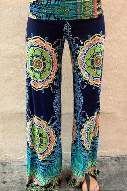 Fashion printing stitching trousers FSR52514WER