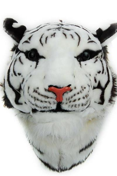 2015 new Fashion 3D Tiger Head Plush Bag Backpack