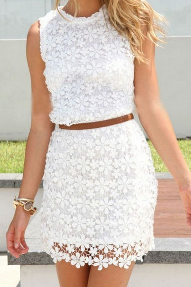 ON SALE FASHION CUTE LACE VEST DRESS