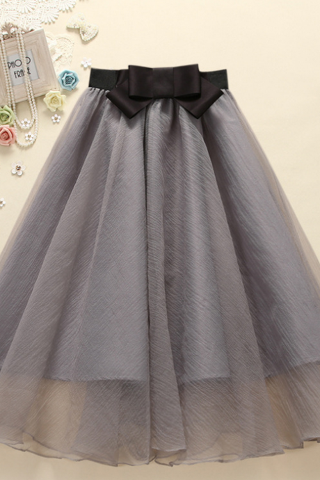 In The 2015 Summer Wear Skirts Long Pleated Skirt Organza Bowknot Bitter Fleabane Bitter Fleabane Princess Skirt QSYE