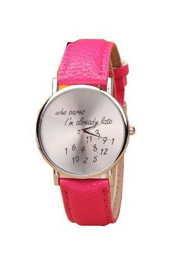 Who Cares I Am Always Late Cool Purple Teen Watch