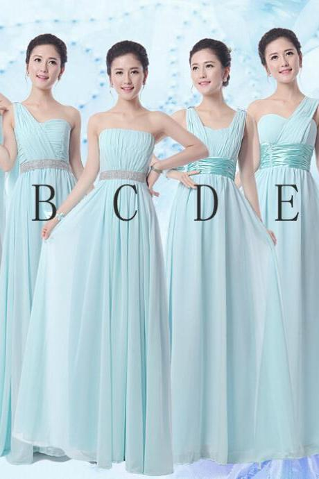 blue bridesmaid dress, long bridesmaid dress, bridesmaid dress, chiffon bridesmaid dress, floor length bridesmaid dress, dress for wedding, mismatched bridesmaid dress, BD371
