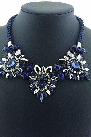 Statement dress anniversary jewelry blue woman necklace