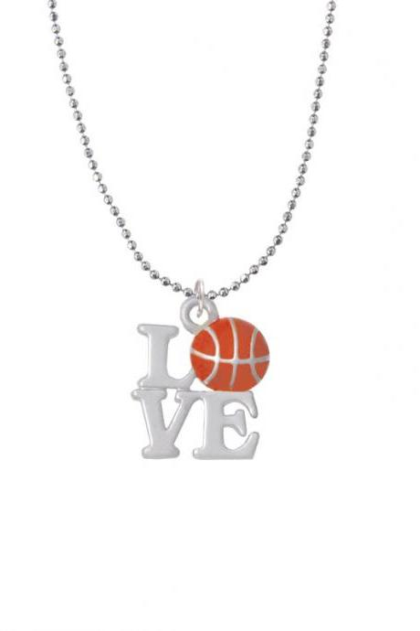NC-C4882-BC - Love with Basketball Ball Chain Necklace - 18 Inches