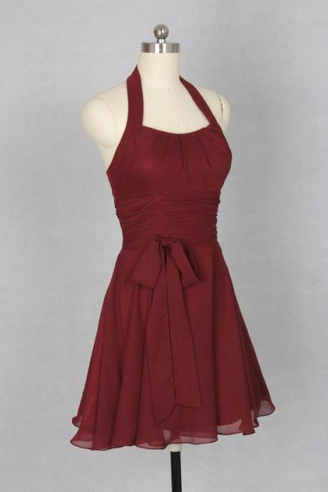 2015 Bridesmaid Dress ,Short Burgundy Prom Dress, 2015 Sexy Party Dress, Custom Homecoming Dress, Cheap Cocktail Dress, Dress For Party